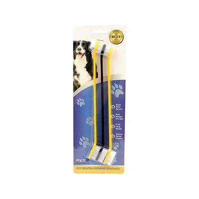 Pet Republique Dog & Cat Dual-Head Toothbrush, 3 count