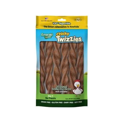 Emerald Pet Chicky Twizzies Grain-Free Dog Treats, 6 count, 9 in