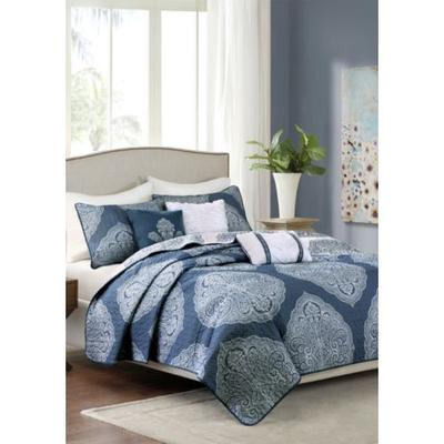 Madison Park Navy Rachel 6-Piece Reversible Quilted Navy ...