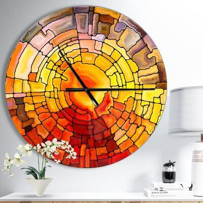 East Urban Home Designart Return of Stained Glass Modern Wall Clock EBHW6643 Size: Small