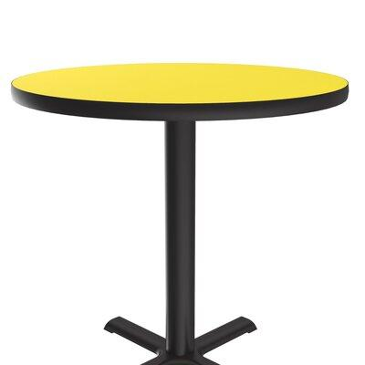 Correll Inc. High Round Bar and Café Table with X Base an...