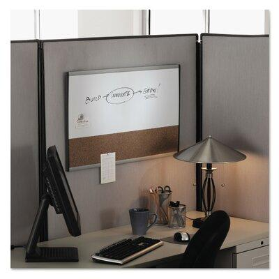 "Acco Magnetic Dry Erase & Colored Cork Combination Board, 18"" x 30"", Aluminum Arc Frame"