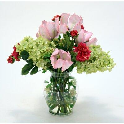 Rosdorf Park Hydrangea and Tulip Floral Arrangement in Gi...