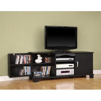 60 Inch Jamestown Wood TV Console in Black Finish Walker ...
