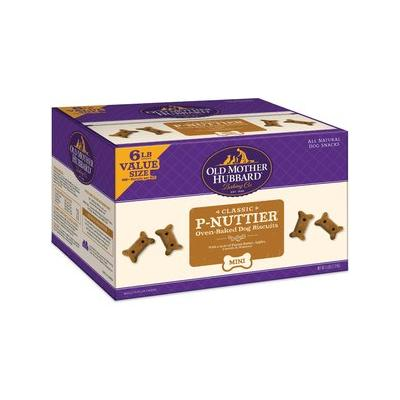 Old Mother Hubbard Classic P-Nuttier Biscuits Baked Dog Treats, Mini, 6-lb box