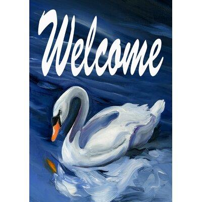 Toland Swan Welcome 2-Sided Garden flag 102095