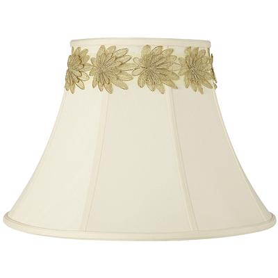 Imperial Shade with Gold Flower Trim 9x18x13 (Spider)