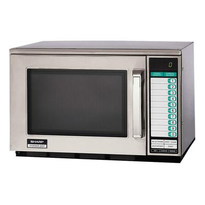 Sharp R22GTF 1200w Commercial Microwave with Touch Pad, 120v
