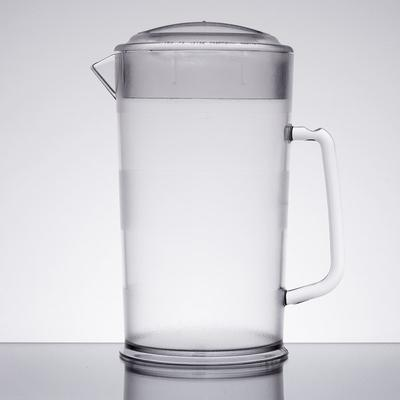 Cambro PC64CW 64 oz. Customizable Covered Plastic Pitcher