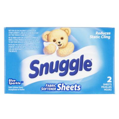 2 Count Snuggle Blue Sparkle Dryer Sheet Fabric Softener ...