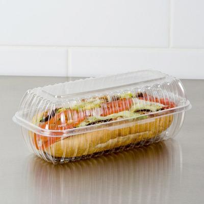 """Dart C99HT1 9 7/8"""" x 5"""" x 3 1/2"""" Clearseal Clear Hinged L..."""
