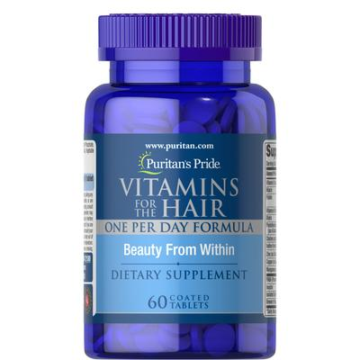 Puritan's Pride Vitamins for the Hair-60 Coated Caplets