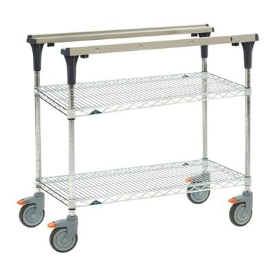 Metro MS1830-BRBR 2 Level Mobile PrepMate MultiStation w/ Wire Shelving - 32L x 19.4W x 39.13H