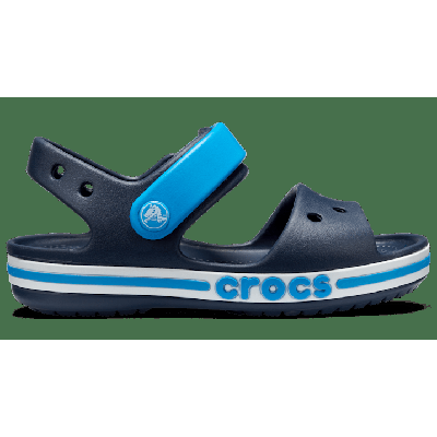 Crocs Navy Kids' Bayaband Sandal Shoes