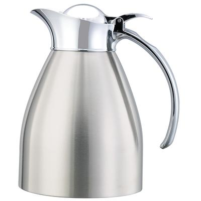 Service Ideas 982C06BS .6 liter Carafe w/ Vacuum Insulation, Brushed Stainless Finish