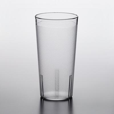 Thunder 20 oz. Clear Pebbled Plastic Tumbler - 12/Pack