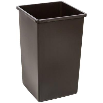 Continental 25BN Swingline 25 Gallon Brown Square Trash Can