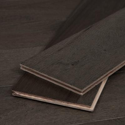 "Gray-Brown American Hickory Wood Flooring, 1/2"" thick, Sample"