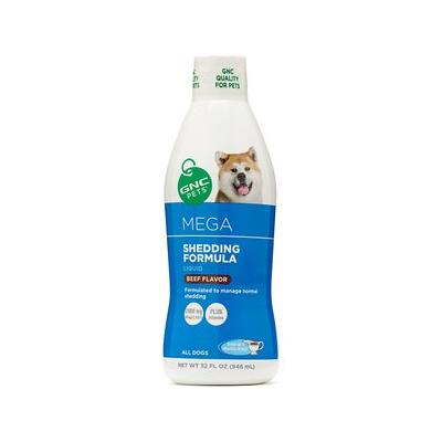 GNC Pets Mega Shedding Formula Beef Flavor Dog Supplement, 32-oz bottle