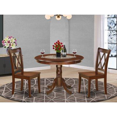 August Grove August Grove Lamotte 3 Piece Solid Wood Rubberwood Breakfast Nook Dining Set X112500909 Color Mahogany Dailymail