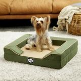 Sealy Lux Premium Orthopedic Bolster Dog Bed w/Removable Cover, Small, Green