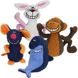 Multipet Deedle Dudes Plush Dog Toy, Character Varies