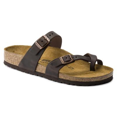 BIRKENSTOCK Mayari Oiled Leather Habana Thong Sandals