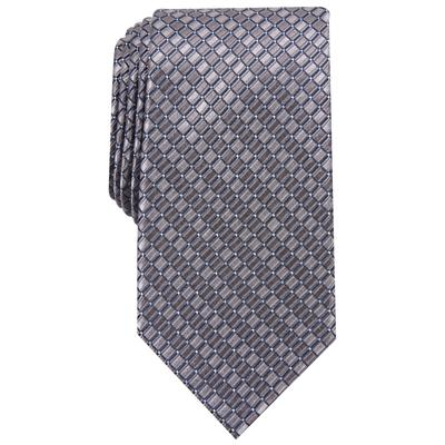 Perry Ellis Men's Nascarella Grid Tie - Grey