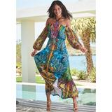Printed Maxi Dress Dresses - Blue/Multi