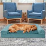 FurHaven Plush & Suede Cooling Gel Bolster Dog Bed w/Removable Cover, Deep Pool, Jumbo