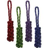 Multipet Nuts For Knots Rope Tug & Braided Stick Dog Toy, Color Varies