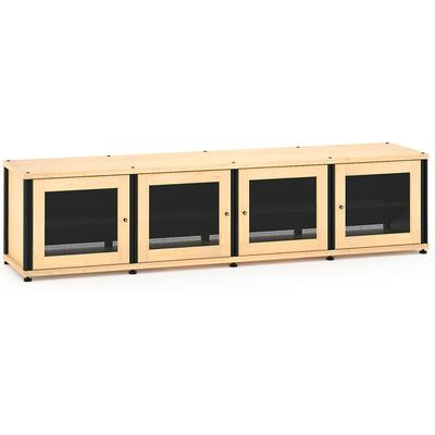 Salamander Designs Synergy 247 Quad Width Maple with Black Posts