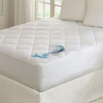 Quiet Nights Waterproof Mattress Pad White, King, White