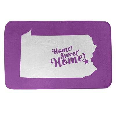 East Urban Home Home Sweet Allentown Rectangle Non Slip Does Not Apply Bath Rug Polyester In Violet Size 17 W X 21 L Wayfair Sportspyder