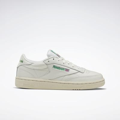 Reebok Shoes Women's Club C 85 Vintage in Chalk/Glen Green/Paper White Size 10 - Court,Lifestyle Shoes