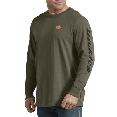 Dickies Men's Long-Sleeve Graphic T-Shirt - Military Green Size 2Xl 2Xl (WL469)