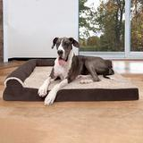 FurHaven Two-Tone Deluxe Chaise Orthopedic Dog Bed w/Removable Cover, Espresso, Jumbo Plus