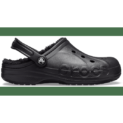 Crocs Black / Black Baya Lined Clog Shoes
