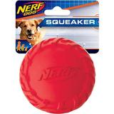 Nerf Dog Squeaker Tire Ball Dog Toy, Red
