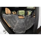 Plush Paws Products Quilted Velvet Waterproof Hammock Car Seat Cover, London Grey, X-Large