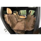 Plush Paws Products Quilted Velvet Waterproof Center Console Access Hammock Car Seat Cover, Chocolate, X-Large