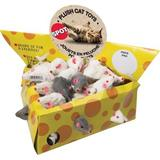 Ethical Pet Plush Mice Cheesebox Cat Toys, 2-in, 60 count