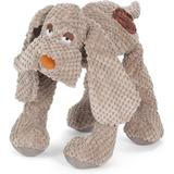 Fab Dog Floppy Squeaky Plush Dog Toy, Beige Large
