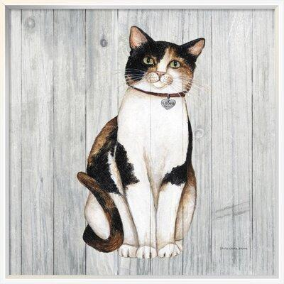 East Urban Home Country Kitty Iii On Wood Painting Print On Wrapped Canvas Format Silver Framed Canvas Canvas Fabric In Brown Gray Wayfair Shefinds