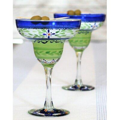 Get The Charlton Home Salters 12 Oz Margarita Glass Glass In Blue Size 6 H X 4 W X 4 D Wayfair Wc514004 From Wayfair Now Ibt Shop