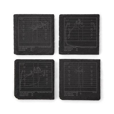 Football Greatest Plays Coasters