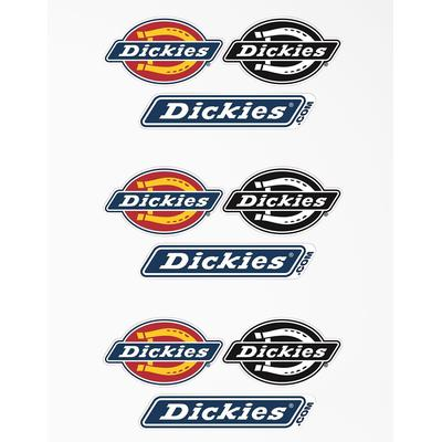 Dickies Exclusive Logo Stickers, 5-Pack Of 3 - Assorted Colors Size One (Gwp200) (GWP200)
