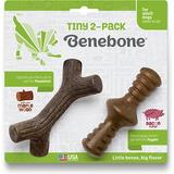 Benebone Bacon Flavor Tough Dog Chew Toy, Tiny, 2 count