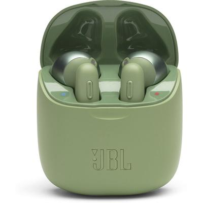 (green) 100% wire-free headphones with no connecting cord between earbuds,tuned for clear sound with punchy bass,battery life: 3 hours (carrying case banks up to 16 hours of power to recharge)
