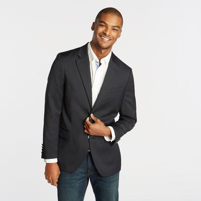 Nautica Men's Classic Fit Navy Sport Coat With Nautical Lining Tugboat Blue, 42 Long